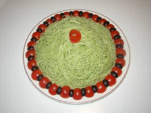 Angel Hair Basil Pesto