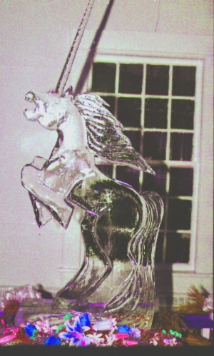 Pegasus ice carving