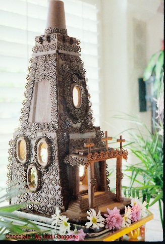 Chocolate Gothic Church sculpture