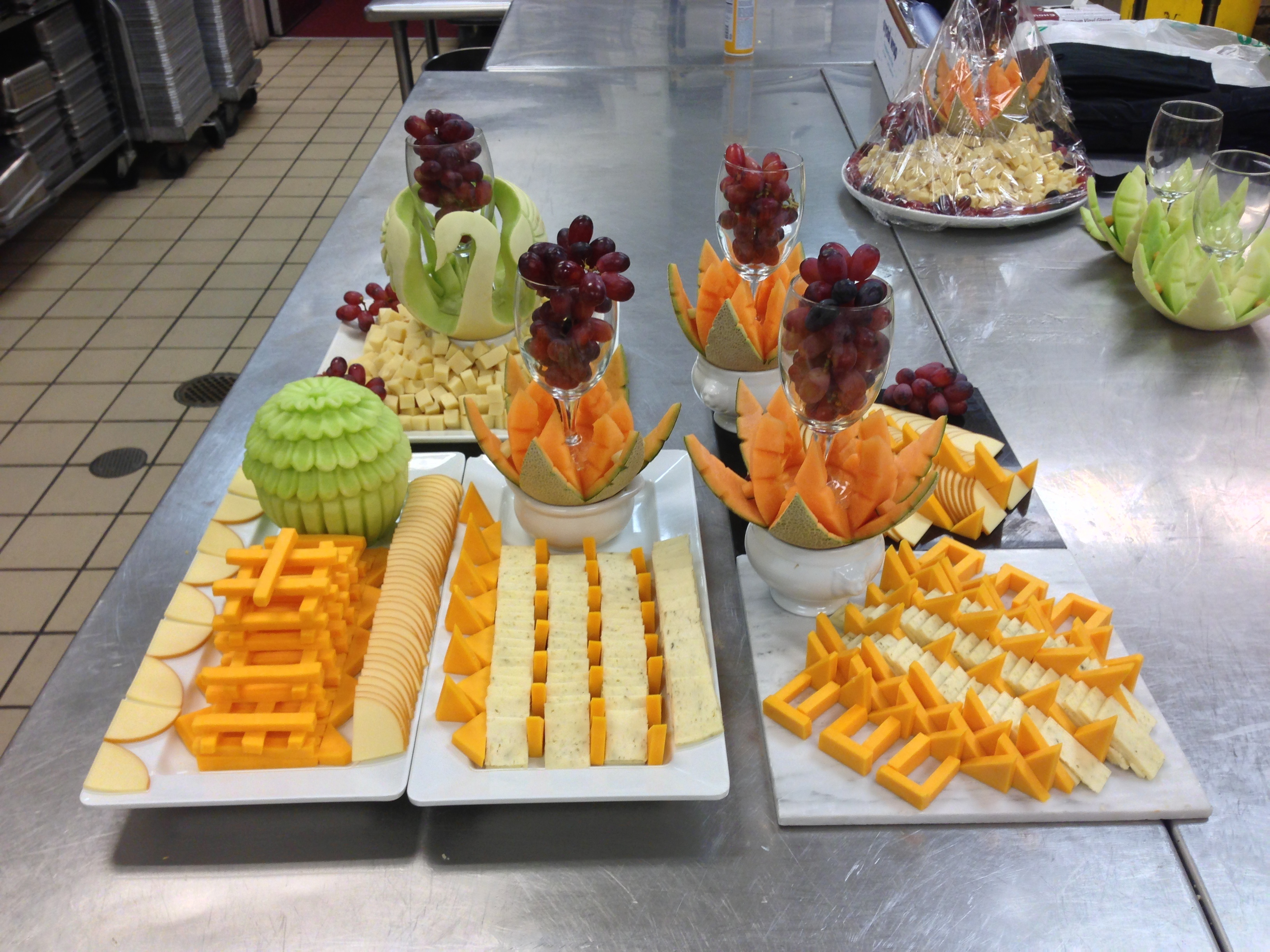 Production Cheese displays