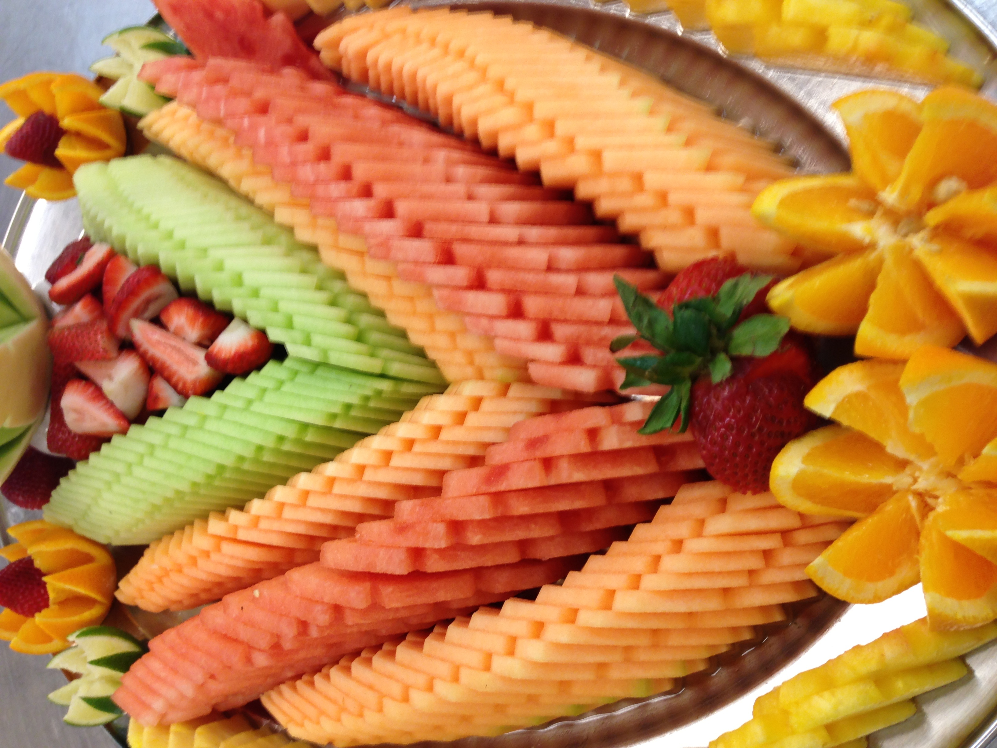 Sliced Watermelon buffet platter